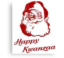 Happy Kwanzaa Christmas Santa Claus Canvas Print