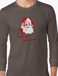 Happy Kwanzaa Christmas Santa Claus Long Sleeve T-Shirt