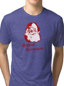 Happy Kwanzaa Christmas Santa Claus Tri-blend T-Shirt