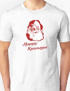 Happy Kwanzaa Christmas Santa Claus Unisex T-Shirt