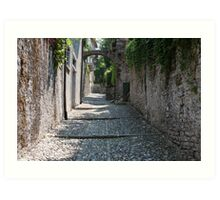 streets of a village typical Art Print