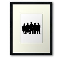 The Usual Suspects pt2 Framed Print