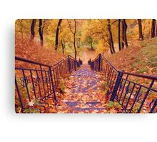 Stairs in the Fall Canvas Print