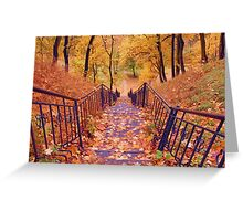 Stairs in the Fall Greeting Card