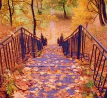 Stairs in the Fall Sticker