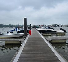 A pontoon in bembridge harbour. by ronsaunders47