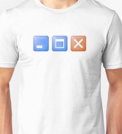 Minimize Maximize Close Computer Internet Unisex T-Shirt