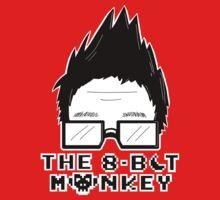 The8BitMonkey Head & Logo In B/W Kids Tee