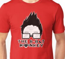 The8BitMonkey Head & Logo In B/W Unisex T-Shirt