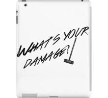 What's Your Damage-Black iPad Case/Skin