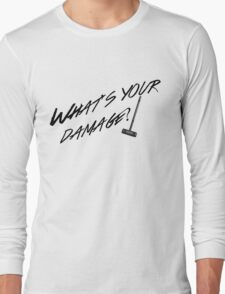 What's Your Damage-Black Long Sleeve T-Shirt
