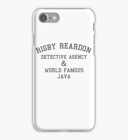 Rigby Reardon Detective Agency iPhone Case/Skin
