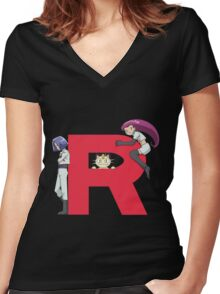 Team Rocket - Pokémon Women's Fitted V-Neck T-Shirt