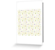 Pretty Butterflies and Polka Dots Pattern Greeting Card