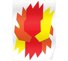 Abstract Flame Poster