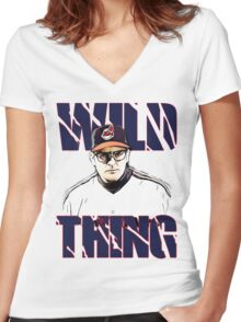 Wild thing - Rick Vaughn Women's Fitted V-Neck T-Shirt