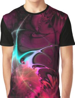 Psychedelic Waves (red) Graphic T-Shirt