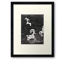 Wolf Ranch rock art .5 Framed Print