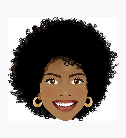 Beautiful Afro woman Photographic Print