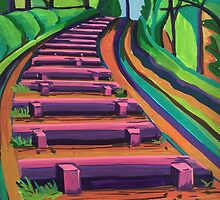 Box Hill Steps, Surrey by Tiffany Budd