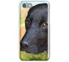 Dog 115 black Labrador iPhone Case/Skin