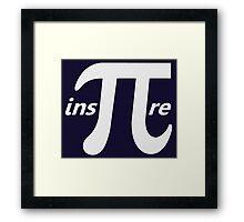 Inspire Inspirational Pi Symbol Framed Print
