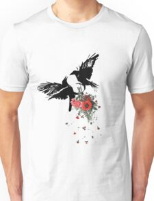 raven fighting over a bouquet Unisex T-Shirt