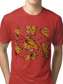colourful autumn leaves  Tri-blend T-Shirt