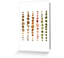 Fossils in Stones Pattern Greeting Card