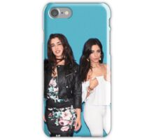 Lauren Jauregui & Camila Cabello (teal background) iPhone Case/Skin