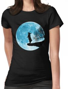Moon Bunny Womens Fitted T-Shirt