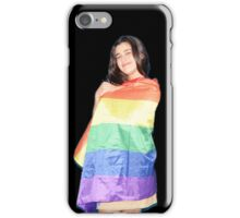 Lauren Jauregui w/ Pride Flag (black background) iPhone Case/Skin