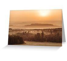 Saturday sunrise Greeting Card