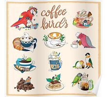Coffee Birds Poster