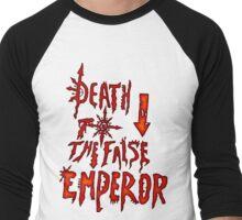 Death to the False Emprah! (Khorne) Men's Baseball ¾ T-Shirt