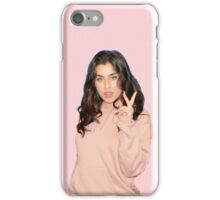Lauren Jauregui (pale pink background) iPhone Case/Skin