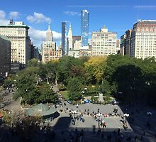 Aerial View, Union Square, New York City by lenspiro