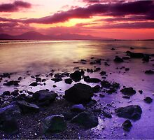 Sunset Over Blennerville by Terry O Keeffe