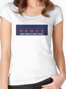 Pence make america great again Women's Fitted Scoop T-Shirt