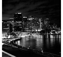 Circular Quay, Sydney At Night Photographic Print