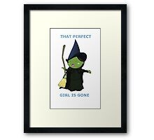 That Perfect Girl Is Gone Framed Print