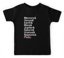 Helvetica Planets List Kids Tee