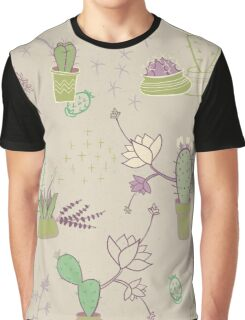 Potted Cactus Graphic T-Shirt