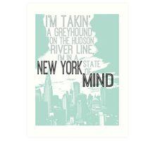 Billy Joel New York Art Print