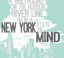 Billy Joel New York by geekchicprints