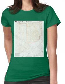 USGS TOPO Map California CA Cahuilla Mountain 288748 1996 24000 geo Womens Fitted T-Shirt