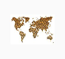 World map in animal print design, leopard pattern Unisex T-Shirt