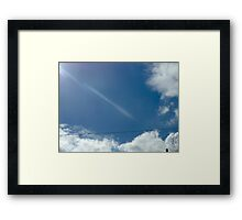 wire beam Framed Print