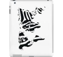 World map in animal print design, zebra pattern iPad Case/Skin
