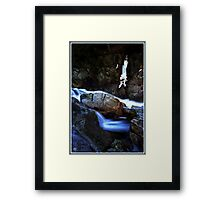 Painted Boulder, Livermore Falls, Plymouth, NH Framed Print